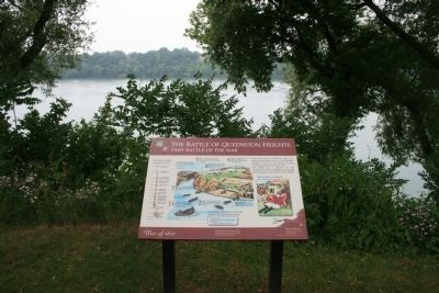 The Battle of Queenston Heights Marker image. Click for full size.