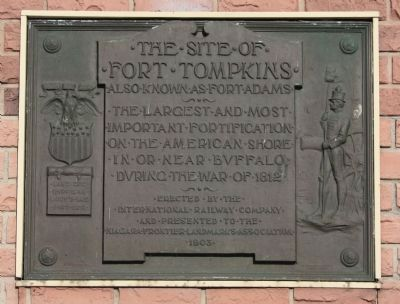 The Site of Fort Tompkins Marker image. Click for full size.