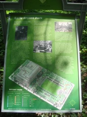 Early Bryant Park Marker image. Click for full size.