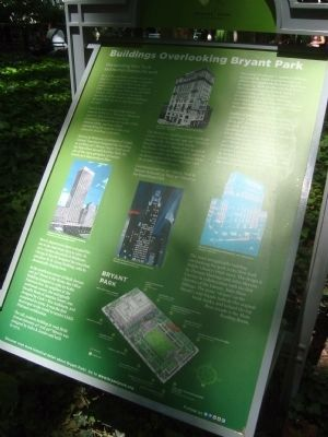 Buildings Overlooking Bryant Park Marker image. Click for full size.