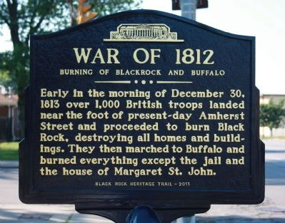 Burning of Blackrock and Buffalo Marker image. Click for full size.
