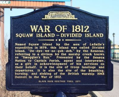 Squaw Island - Divided Island Marker image. Click for full size.