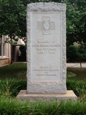 United Spanish American War Veterans Memorial Marker image. Click for full size.