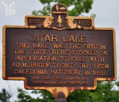 Star Lake Marker image. Click for full size.