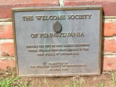 The Welcome Society of Pennsylvania Marker image. Click for full size.