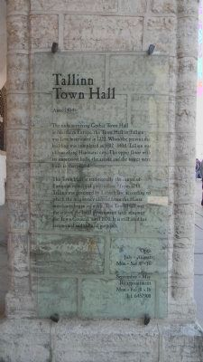 Tallinn Town Hall - <i>Anno 1404</i> Marker image. Click for full size.