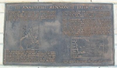 Anabaptist - Mennonite Faith & Life Marker image. Click for full size.