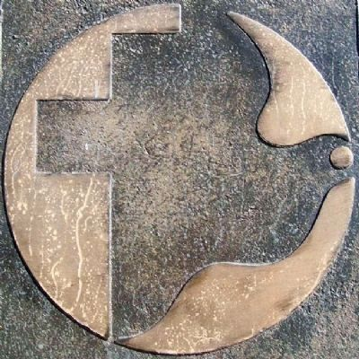 Mennonite Symbol on Centennial Memorial Marker image. Click for full size.
