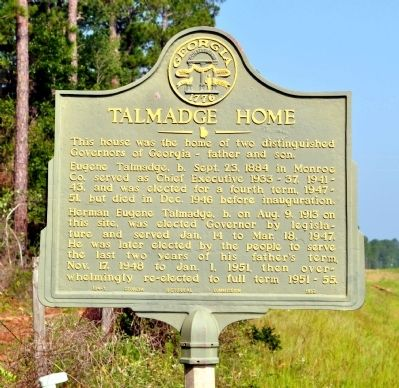 Talmadge Home Marker image. Click for full size.