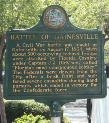 Battle of Gainesville Marker image. Click for full size.