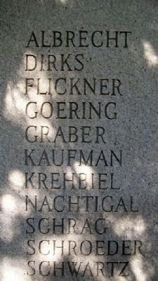 Swiss Mennonite Family Names on Congregation Marker image. Click for full size.