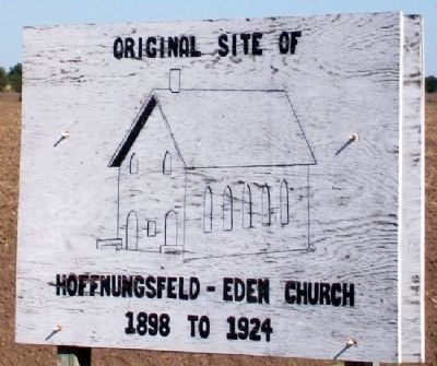Original Site of Hoffnungsfeld-Eden Church Marker image. Click for full size.