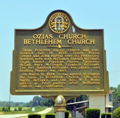 Ozias Church Bethlehem Church Marker image. Click for full size.