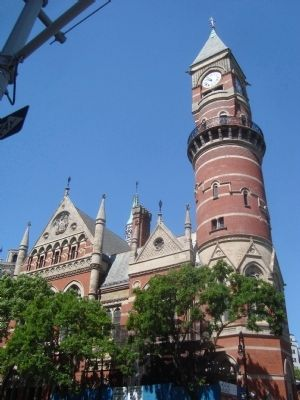 Clock Tower of the Jefferson Market Courthouse image. Click for full size.