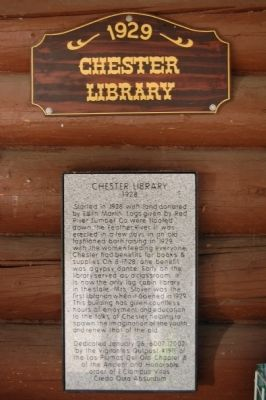 Chester Library Marker image. Click for full size.
