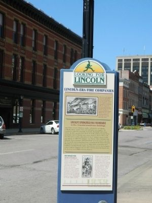 Lincoln-Era Fire Companies Marker image. Click for full size.