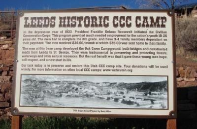 Leeds Historic CCC Camp Marker image. Click for full size.