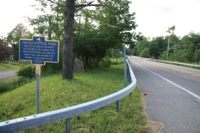 The Old Portage Road Marker image. Click for full size.