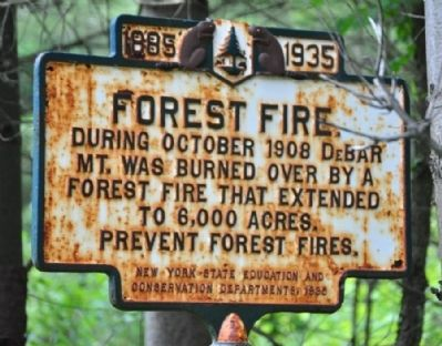 Forest Fire Marker image. Click for full size.