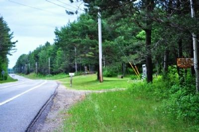 Forest Fire Marker as seen facing North on Rte. 30 image. Click for full size.