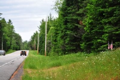 The Site of Camp S-60 Marker as seen facing North on Rte 30. image. Click for full size.