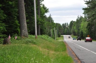 The Site of Camp S-60 Marker as seen facing South on Rte 30. image. Click for full size.