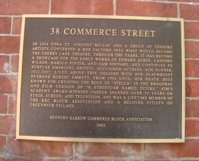 38 Commerce Street Marker image. Click for full size.