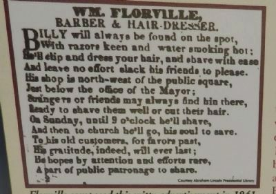 Wm. Florville's Ad image. Click for full size.