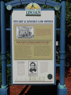 Stuart and Lincoln Law Office Marker image. Click for full size.
