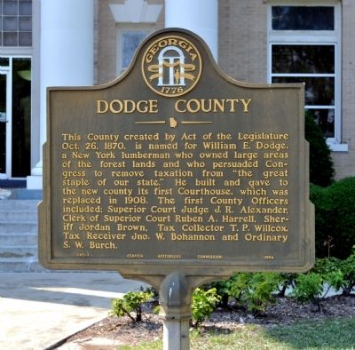 Dodge County Marker image. Click for full size.