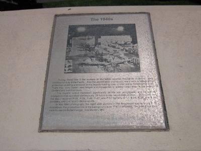 McClellan Air Force Base Marker - Panel 2a - The 1940's image. Click for full size.