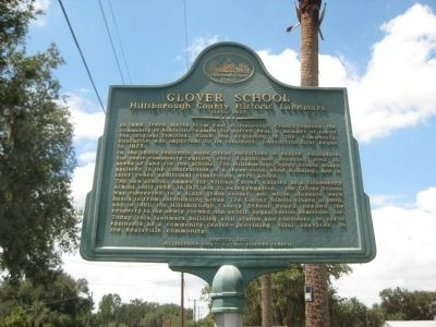 Glover School Marker image. Click for full size.