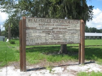 "Sign for Bealsville Incorporated and ""Old Glover School Historical Center"" image. Click for full size."