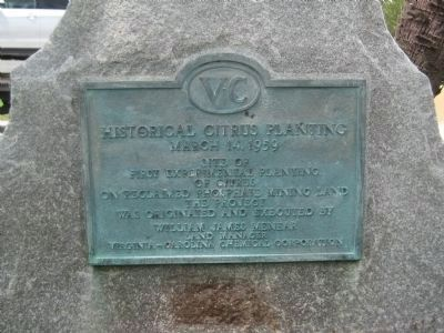 Historical Citrus Planting Marker image. Click for full size.