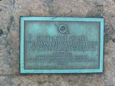 Guilford Revolutionary War Memorial image. Click for full size.
