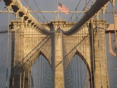 The West Tower of the Brooklyn Bridge image. Click for full size.