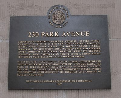 230 Park Avenue Marker image. Click for full size.