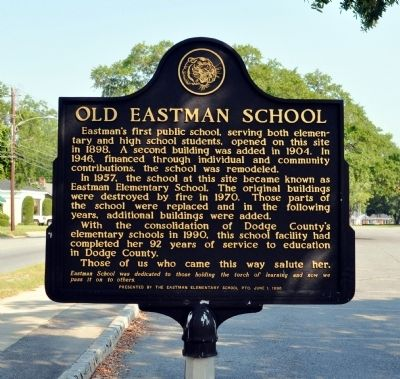 Old Eastman School Marker image. Click for full size.