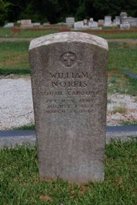 William Norris Tombstone image. Click for full size.