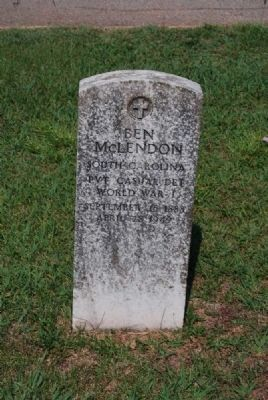 Ben McLendon Tombstone image. Click for full size.