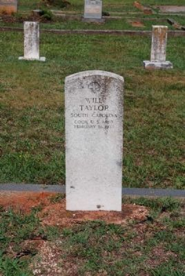 Will Taylor Tombstone image. Click for full size.