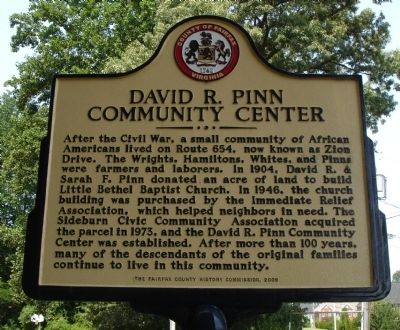 David R. Pinn Community Center Marker image. Click for full size.