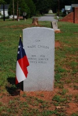 Wade Childs Tombstone image. Click for more information.