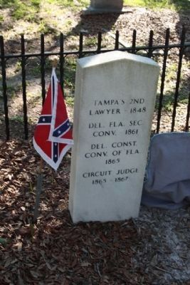 Oaklawn Cemetery, Capt. Gettis back side image. Click for full size.