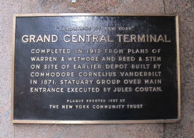 Grand Central Terminal Marker image. Click for full size.