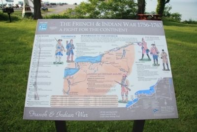 The French & Indian War 1756-1763 Marker image. Click for full size.