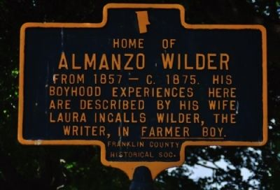 Almanzo Wilder Marker image. Click for full size.