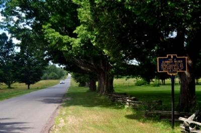 Almanzo Wilder Marker as seen facing North on Stacy Rd. image. Click for full size.