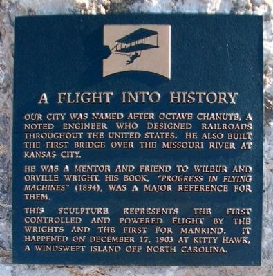A Flight Into History Marker image. Click for full size.