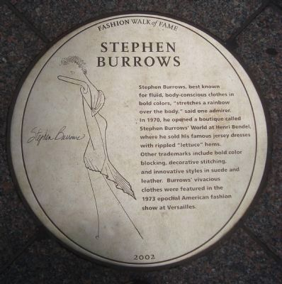 Stephen Burrows Marker image. Click for full size.